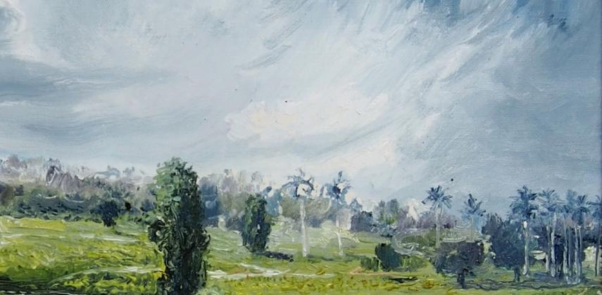 Richard Somonte: (Detail) Three Trees Aligned