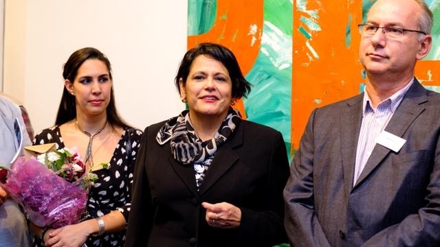 Chrislie Perez, Ambassador Teresita Vicente, Rob Miller Pic credit Benoit Grogan-Avignon